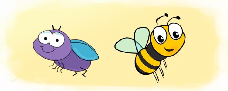 Картинка пчелы на цветке